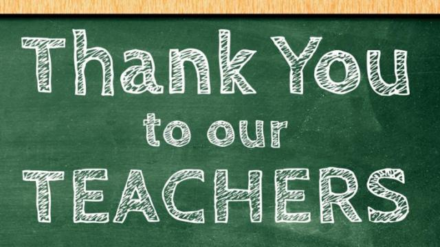 Teachers End of Year Acknowledgement